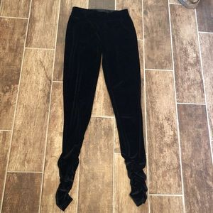SEVEN7 Velvet LEGGINGS Gathered ankle Women's 25